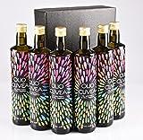 """Öl Geschenk """"Öl für six"""": Geschenk mit Ligurische Olivenöl Extra Natives - 100% Taggiasca Oliven"""