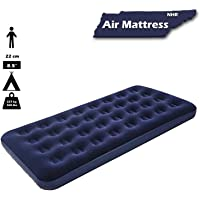NHR Bestway Flocked Air Bed, Single (Navy Blue)