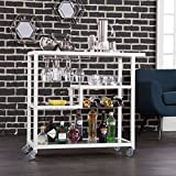 Holly & Martin Zephs Bar Cart - White by Holly & Martin