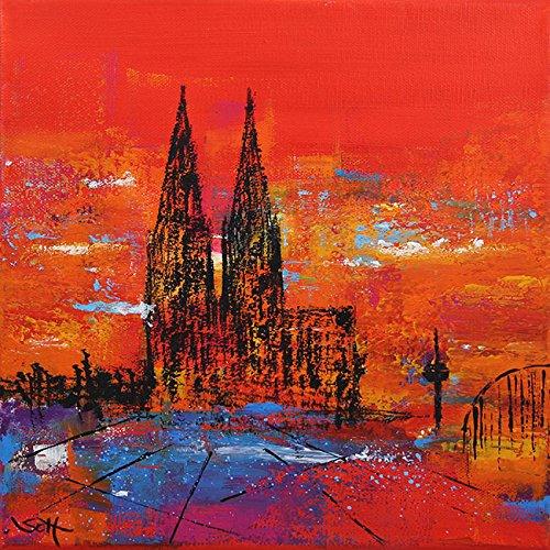 bild-kln-klner-dom-modern-malerei-kunst-original-acryl-gemlde-25x25-cm