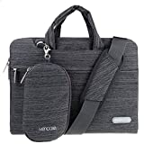 Ivencase 15 15.6 Borse Custodia con tasche Neoprene Business Sleeve per Laptop / Notebook / Computer / MacBook Pro 15.4 / MacBook Pro with Retina Display 15.4 - Grigio scuro