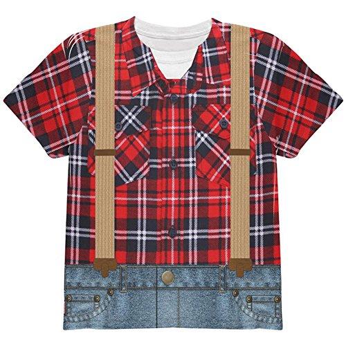 lzfäller ganzen Jugend T Shirt Multi YXL (Holzfäller-halloween-kostüm)