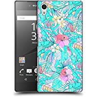 Official Micklyn Le Feuvre Pretty Pastel Hawaiian Florals Hard Back Case for Sony Xperia Z5 / Z5 Dual