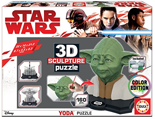 Educa Borrás – Star Wars Farbe 3d Sculpture Puzzle Yoda (17801)