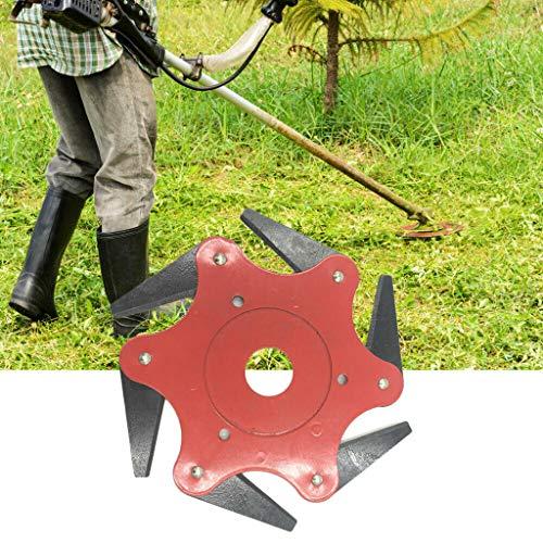 A Privilege 65Mn Rasenmäher Klinge, Rasentrimmermesser, Rasenmäher Kopf, Elektrische Gartenwerkzeuge generell für Stihl, Echo, Homelite, Husqvarna (Rot)