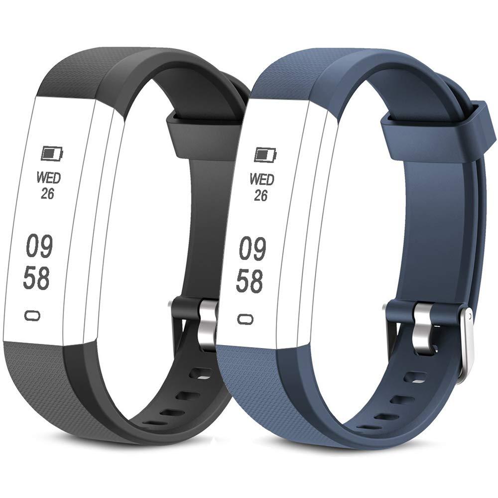 Rayfit Pulseras de Repuesto para Fitness Tracker Correa ID115U / Correa 115U / 115UU Smart Band Correa Repuesto de Reloj… 1