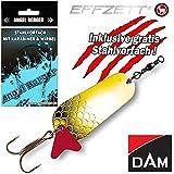 Angel-Berger DAM Effzett Standard Blinker alle Modelle Stahlvorfach (Gold, 30g)