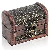 Brynnberg Scrigno del tesoro vintage Bauletto stile antico per accessori gioielli oggetti di valore | Cassaforte in legno | Idea regalo decorativa