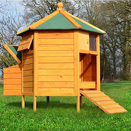 zooprimus Hühnerstall 28 Geflügelhaus - HÜHNER-PAVILLON - Stall für Außenbereich (für Kleintiere: Hühner, Geflügel, Vögel, Enten usw.)