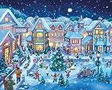 Dorfplatz im Winter Jigsaw Puzzle 1000 Teile
