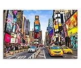 80 x 120 Cm new york toile sur châssis motif times square reklamen impression sur toile motif route panorama à trafic