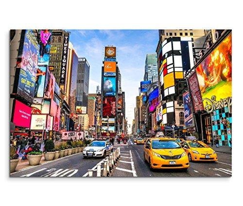 120x 80cm tela su telaio New York Times Square reklamen usato  Spedito ovunque in Italia