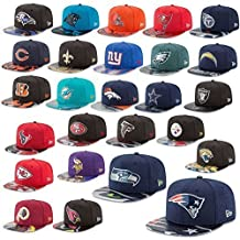 New Era Cap 9fifty NFL Gorra Snapback Draft 2017 On Etapa Seahawks Raiders Patriots Broncos Panthers Falcons ETC - New England Patriots #2589, S/M