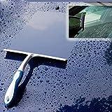 Shower Squeegee Comfort Grip Squeegee Cleaning Brush for Wiping Bathroom Shower Door Window Floor Car Glass Snow Tiles Mirror (Blue)