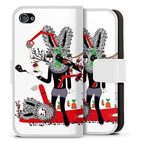Apple iPhone X Silikon Hülle Case Schutzhülle Abstrakt Maske Collage Sideflip Tasche weiß