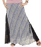 Yaari Black Chiffon Skirt For Women