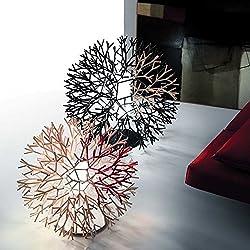Pallucco Coral Tavolo 60 Bianco-Arancio Fluo, lampada terra / tavolo 60cm