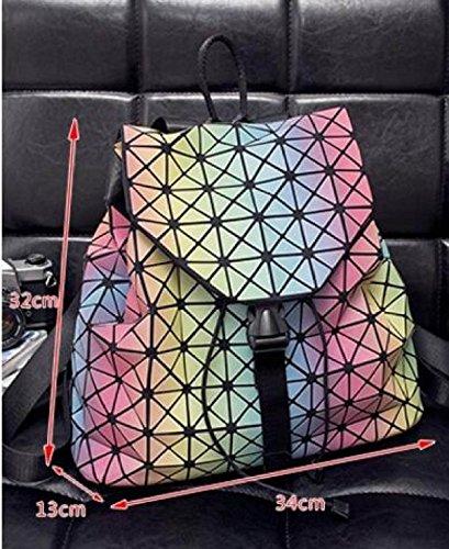 697b4b039f1fc Frau Tasche Regenbogen Chaos Dreieck Rucksack Sommer Farbverlauf  Handtaschen Bunte Umhängetasche A