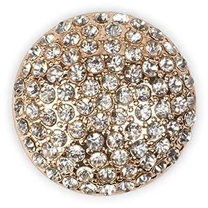 styleBREAKER runder Magnet Schmuck Anhänger mit Strasssteinen besetzt für Schals, Tücher oder Ponchos, Brosche, Damen 05050039