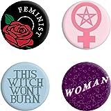 Grindstore - Paquete de chapas feministas modelo This Witch Won`t Burn