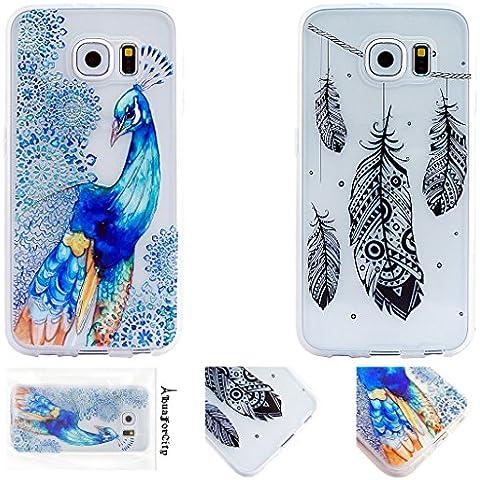 2x Samsung Galaxy S6 Soft Cover Caso, HuaForCity® Samsung Galaxy