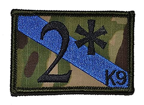 Tactical Gear Junkie 2 Two Ass to Risk K9 Unit Thin Blue Line Sheepdog 2x3 Military Patch / Morale Multicam With Black