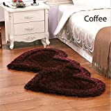 Decor Studioz Amazing Heart Shape Bedside Runner 22X55 Inch (Coffee)