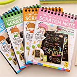 JIACUO Scratch Sketch Art Notes Rainbow Scratch Magic Doodle Notes Perfect Travel Activity Gift For Girls Boys