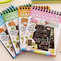 Nikunty Scratch art Creative DIY Hand painting notebook Rainbow Scratch Magic Random delivery 1Pcs