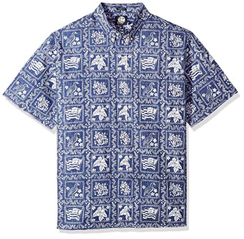 Reyn Spooner Herren Spooner Kloth Classic Fit Front Hawaiian Shirt Button Down Hemd, Lahaina Sailor-Navy, 3X-Groß Navy Sailor Hose