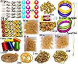 #6: Silk Thread Jewellery Making Kit, 50 pair jhumka earring base, Jewellery Making Materials, Full of Jewellery Making Items, All Items set with Silk Thread (17 items)