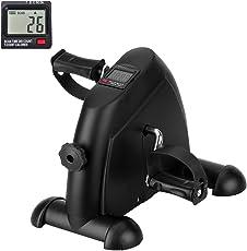 Mini-Bike Heimtrainer Pedaltrainer Bewegungstrainer Arm und Beintrainer mit LCD-Monitor Einstellbarer Widerstand Zuhause für Senioren und Junge. (Schwarz)