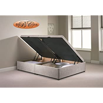 8176ef7aa8ca Divan Ottoman Side Lift Storage Bed Single 4'6 Double 5ft King Size  Chenille (