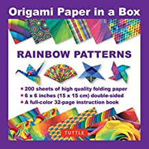 Origami Paper in a Box - Rainbow Patterns