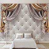 Amazhen Benutzerdefinierte Jede Größe 3D Tapete Moderne Vorhänge Weiche Hintergründe Wandbild Wohnzimmer Sofa Schlafzimmer Wohnkultur Wandmalerei