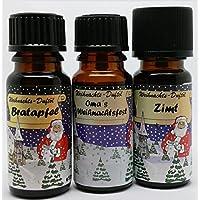 Duftöl Set 3 er Set 2 Weihnachtsdüfte Bratapfel, Omas Wiehnachtsfest, Zimt preisvergleich bei billige-tabletten.eu
