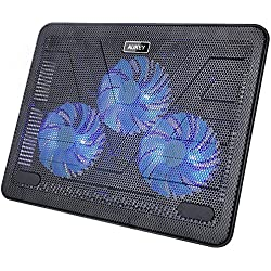 Aukey CP-R1 - Base de refrigeración para ordenador portátil con 3 ventiladores