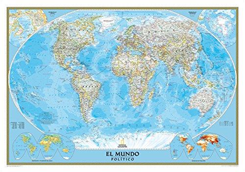 El Mundo Classic pequeño (100x70) laminado castellano. 1:42.680.000. National Geographic. por VV.AA.