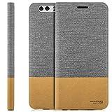zanasta Tasche kompatibel mit Huawei Y5 II (CUN-L21) mit Kartenfach Hülle Flip Case Slim Schutzhülle Handytasche, Standfunktion | Grau