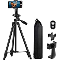MACTREM Treppiedi Cellulare, Treppiede Fotocamera Smartphone, 118cm Alluminio Leggero Cavalletto per Cellulare iPhone…