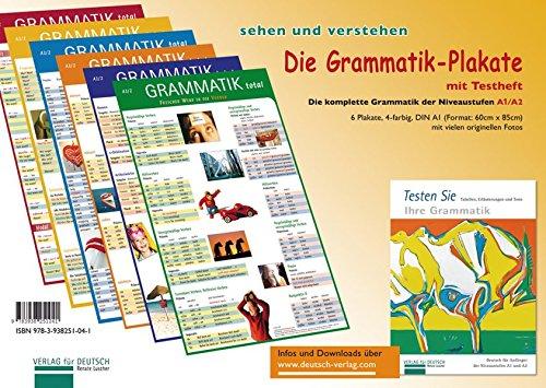 (Die Grammatik-Plakate A1/A2: Testheft und 6 Plakate)