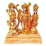 Marble Look Hindu God Shri Ram Darbar Statue Lord Rama Sita Laxman and Hanuman Darbaar Idol Handicraft Spiritual Puja Vastu Showpiece Figurine - Religious Pooja Gift item & Murti for Mandir / Temple / Home Decor / Office