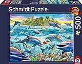Schmidt Spiele Puzzle 58227 Puzzle 500 Teile, Riff der Delfine