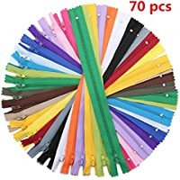 KING DO WAY 70 pcs Reißverschlüsse Gemischte Nylon, 30cm lang 20 Farben, Ersatz Reißverschlusses für Kleidung Tasche Kissenbezug Nylonhose Reißverschluss