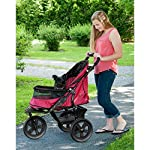 Pet Gear AT3 No-Zip Stroller, Rugged Red 11