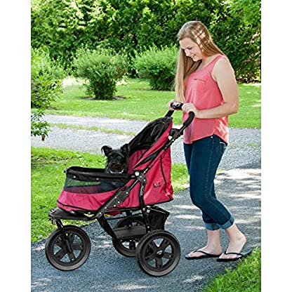 Pet Gear AT3 No-Zip Stroller, Rugged Red 5
