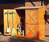 Holz-Geräteschrank Pforzheim groß Gerätehaus Schuppen Schrank