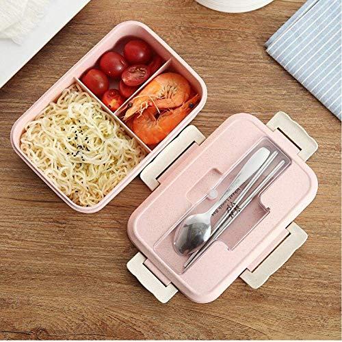 Ouken Mikrowelle Lunch Box Studenten Kids School Office Portable Außen Bento Box Weizenstroh Essgeschirr Food Container Lagerung (Bento-box-container Kids)