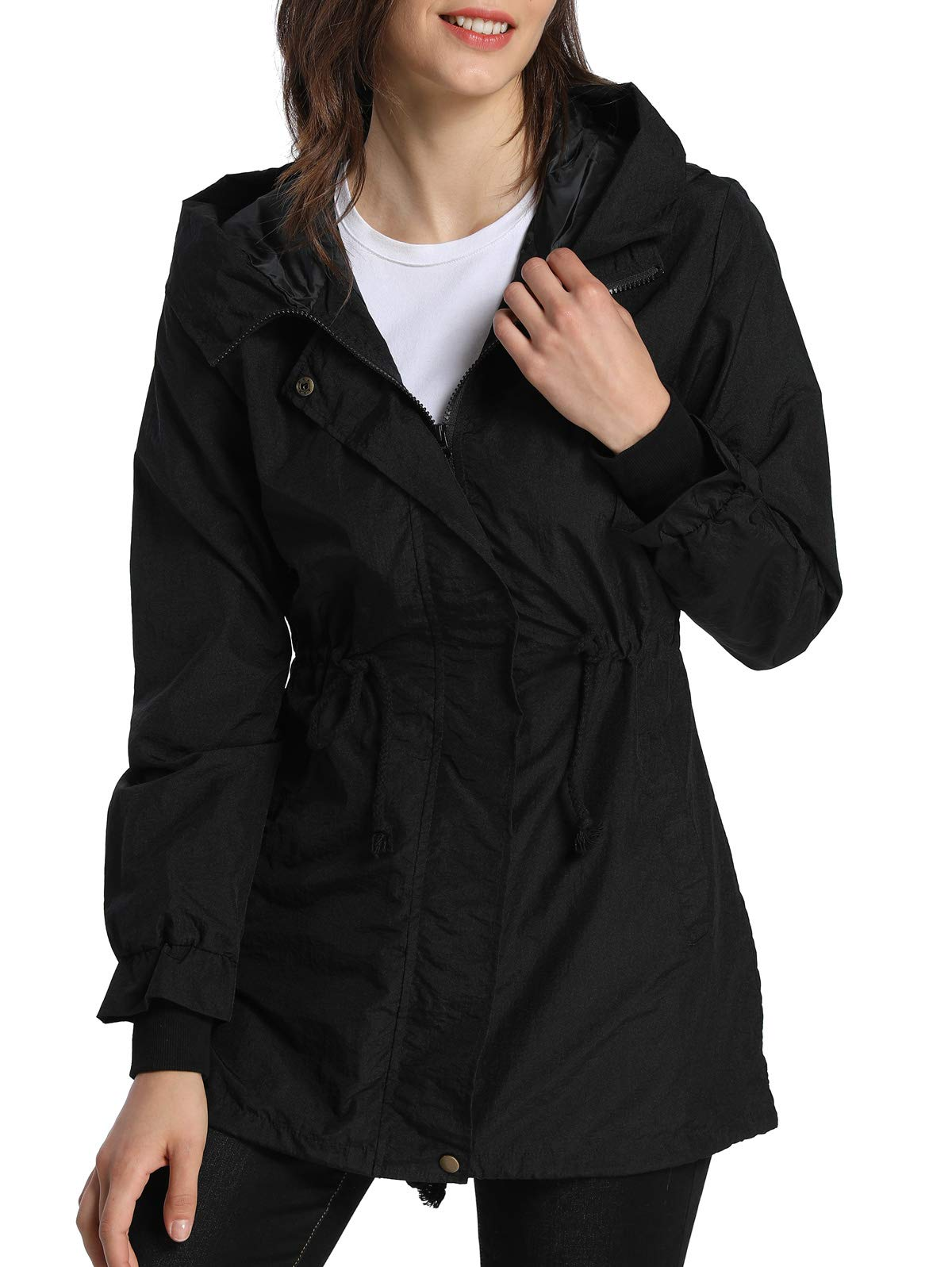 61dpkkkJYfL - 4How Ladies Outwear Breathable Waterproof Jacket Outdoor Lightweight Coat