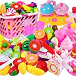 Ruikey A4801 Plastic Play Food Kitchen Accessory Cutting Fruit Vegetable Set Puzzle Toys for Children Educational